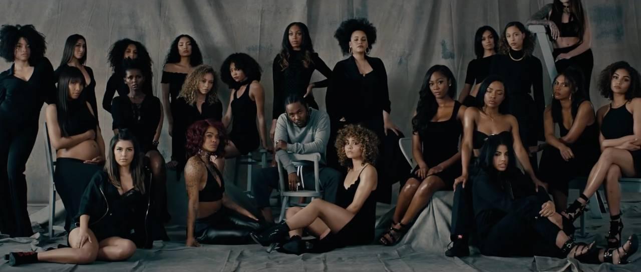 Love : Kendrick Lamar entouré des plus beaux mannequins afro-américain